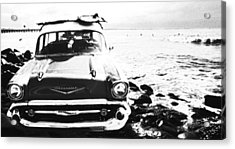 Chevy On The Rocks Acrylic Print by Ron Regalado