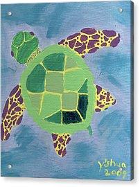 Chiaras Turtle Acrylic Print by Yshua The Painter