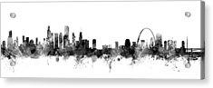 Chicago And St Louis Skyline Mashup Acrylic Print