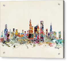 Chicago City Skyline Acrylic Print