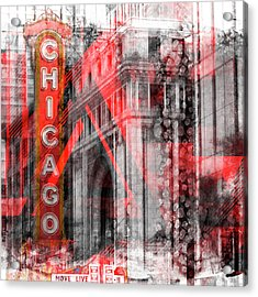 Chicago Geometric Mix No 4 Acrylic Print