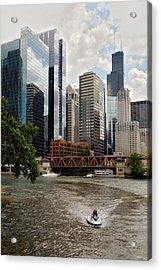 Chicago River Jet Ski Acrylic Print