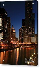 Chicago River Reflections Acrylic Print