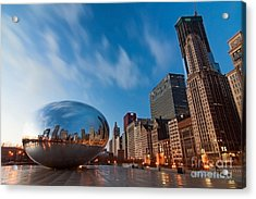 Chicago Skyline And Bean At Sunrise Acrylic Print