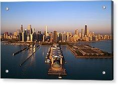 Chicago Skyline Acrylic Print by Jeff Lewis