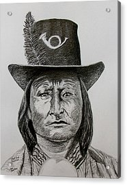 Chief Bird Arapahoe Acrylic Print by Stan Hamilton