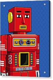 Chief Robot Acrylic Print by Ron Magnes