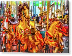 Childhood Carrousel Ride Acrylic Print