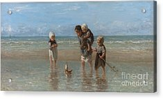 Children Of The Sea Acrylic Print by Jozef Israels