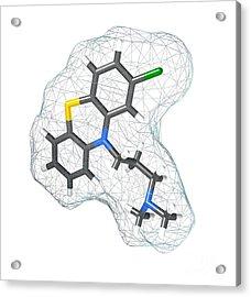 Chlorpromazine, Molecular Model Acrylic Print