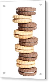 Chocolate And Vanilla Creamed Filled Cookies  Acrylic Print by James BO  Insogna