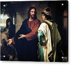 Christ And The Rich Young Ruler Acrylic Print