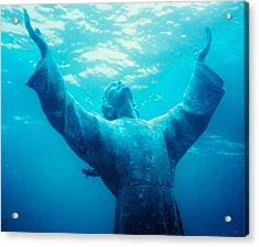Christ At Sea Acrylic Print by Renee Shular