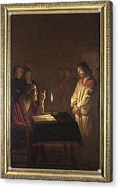 Christ Before The High Priest Acrylic Print by Gerrit van Honthorst