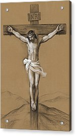 Christ Crucified Acrylic Print by Svitozar Nenyuk
