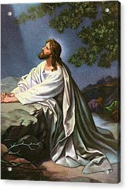 Christ In The Garden Of Gethsemane Acrylic Print by Heinrich Hofmann