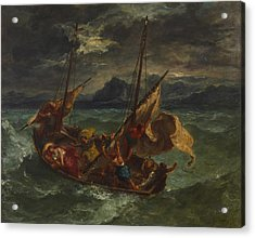Christ On The Sea Of Galilee Acrylic Print by Eugene Delacroix