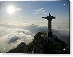 Christ The Redeemer Statue At Sunrise Acrylic Print by Joel Sartore