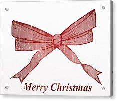 Christmas Bow Acrylic Print