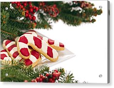 Christmas Cookies Decorated With Real Tree Branches Acrylic Print by Ulrich Schade
