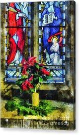 Christmas Poinsettia Acrylic Print