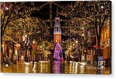 Christmas Time On Church Street. Acrylic Print