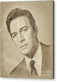 Christopher Plummer, Vintage Actor By John Springfield Acrylic Print