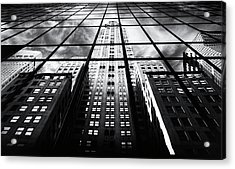 Acrylic Print featuring the photograph Chrysler Reflections by Jessica Jenney