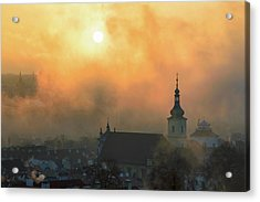 Church Of Our Lady Victorious, Prague, Czech Republic. Acrylic Print
