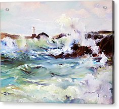Churning Surf Acrylic Print