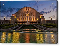 Cincinnati Museum Center At Twilight Acrylic Print
