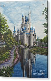 Cinderella Castle  Acrylic Print by Charlotte Blanchard