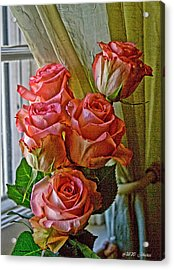 Acrylic Print featuring the photograph Cindy's Roses by Bonnie Willis