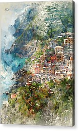 Cinque Terre In Italy Acrylic Print by Brandon Bourdages