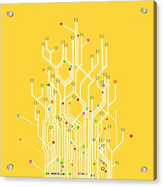 Circuit Board Graphic Acrylic Print