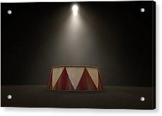 Circus Podium Spotlit Acrylic Print by Allan Swart