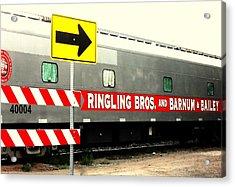 Acrylic Print featuring the photograph Circus Train by Clarice  Lakota