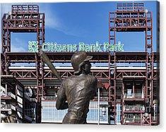 Citizans Bank Park Acrylic Print by John Greim