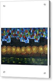 City Lights Acrylic Print by Aida Behani