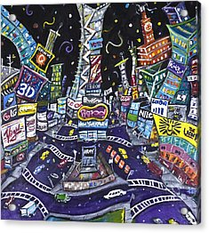 City Of Lights Acrylic Print by Jason Gluskin