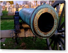 Civil War Cannon 1862 In Gettysburg Pa Acrylic Print
