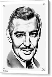 Clark Gable Acrylic Print by Greg Joens