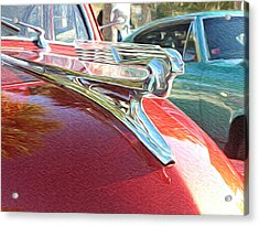 Classic Cars - 1941 Chevy Special Deluxe Business Coupe - Flying Lady Hood Ornament Acrylic Print