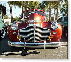 Classic Cars - 1941 Chevy Special Deluxe Business Coupe - Front End Acrylic Print