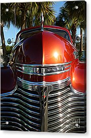 Classic Cars - 1941 Chevy Special Deluxe Business Coupe - Hood And Grille Acrylic Print