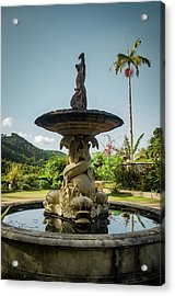 Acrylic Print featuring the photograph Classic Fountain by Carlos Caetano