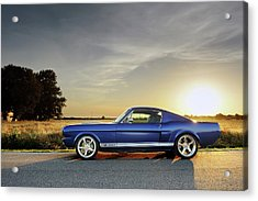 Classic Recreations Shelby Gt350cr Acrylic Print by Drew Phillips