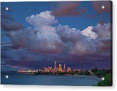 Acrylic Print featuring the photograph Cleveland Skyline  by Emmanuel Panagiotakis