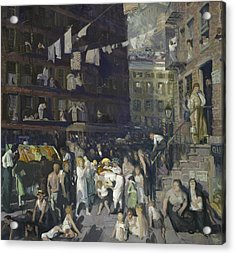 Cliff Dwellers Acrylic Print by George Wesley Bellows