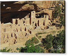 Cliff Palace Mesa Verde Acrylic Print by Debby Pueschel